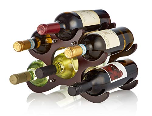 AdirHome Wooden Wine Rack - 6 Bottle ()
