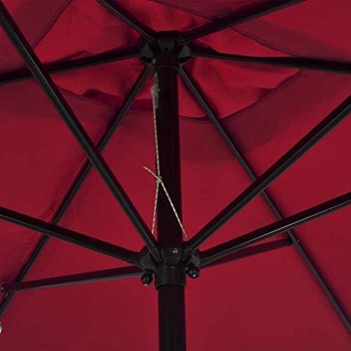 アウトドアパラソルメタルポール付き300x200 cmボルドーレッドホームガーデンローンガーデンアウトドアリビングアウトドアパラソルサンシェード