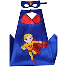 Halloween Costume Superhero Dress Up for Kids Party Cape and Felt Mask, Birthday Parties, Cartoon Play