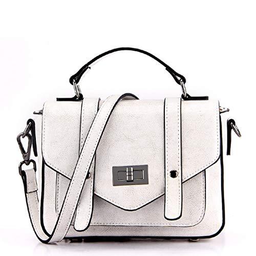 Top Kervinfendriyun Vintage Black Satchel color Bag Crossbody Bolsos Cuero De Gray Yy4 Handles Mujer Para Uw8UqH