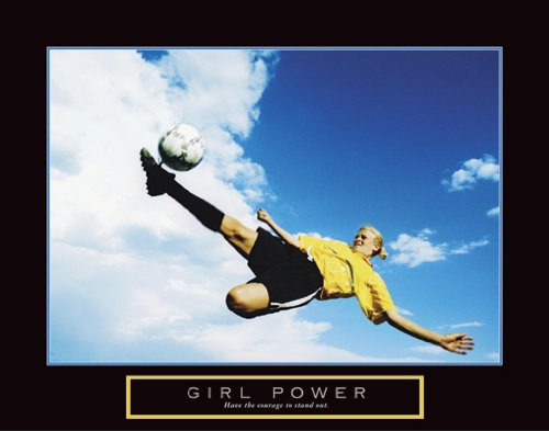 Girl Power Soccer Motivational Poster Print Art