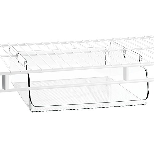 Bin Rack Wire Accessory (InterDesign Wire Shelving Organizer, Under Shelf Bin - Large, Clear)