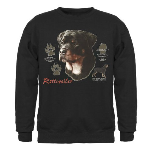 Rottweiler Uni-Sex Sweatshirt (Medium, Black) (Adult Rottweiler Sweatshirt)