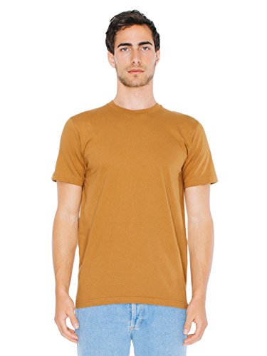 (American Apparel  Unisex Fine Jersey Short Sleeve T-Shirt, Camel, Large)