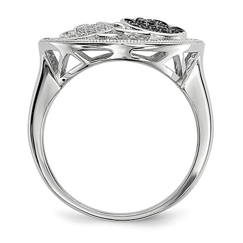 Sterling Silver & CZ Brilliant Embers Cat Ring Size 6 by Jewels By Lux (Image #1)