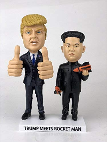 President Trump Meets Rocket Man Bobblehead Set