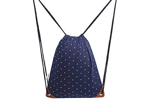 DANUC Gym Sack Bag Drawstring Backpack Sport Bag for Men & Women School Travel Backpack (Pattern-1)