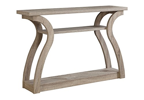 (Monarch Specialties I 2446, Hall Console, Accent Table, Dark Taupe, 47