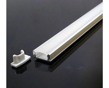 LineteckLED® - E12.001.01L Profilo in alluminio con copertura ...