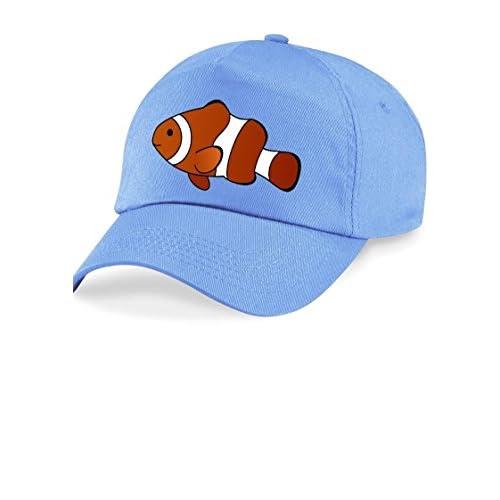 7e4e853512d30 El servicio durable Kids Azul Peces Sol Tapa Sombrero. Ajustable Talla única .