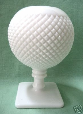 Westmoreland Milk Glass Footed Rose Bowl Vase