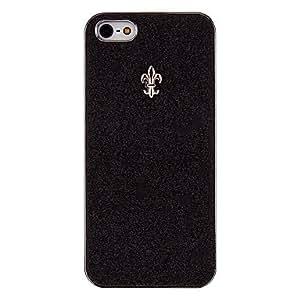 CECT STOCK Polvo brillante con el caso duro encabezar elegante para 5/5s (colores opcionales) iphone , Color Plata