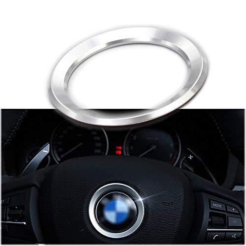 Logo Silver Series - 1 Set Steering Wheel Center Logo Ring Emblem Silver Chrome Trim For 2013-2015 BMW 1 3 5 Series x3 x5 x6