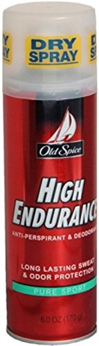 Old Spice High Endurance Anti-Perspirant Deodorant Spray Pure Sport 6 oz (Pack of 12)