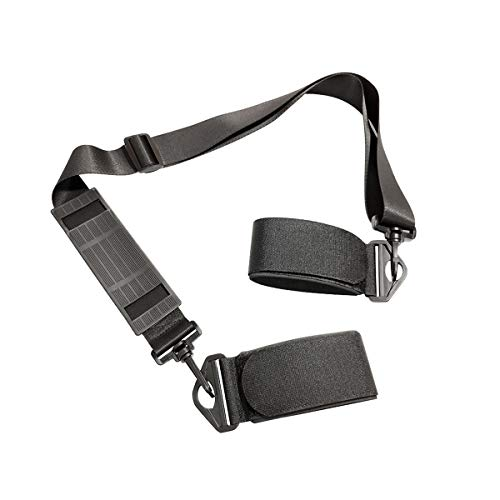 LAWOHO Shoulder Ski Carrier Straps Adjustable Sling with Cushioned Holder - Upgrade with Anti Slip Shoulder Pad - Lash Handle Straps Pole Carrier Snowboard Boot Carrier Strap