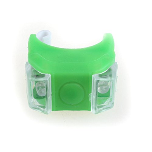 - Feccile S-ports & Fit-ness Silicone Bike Light LED Safety Lamp for Road Bike Mountain Bicycle,1Pcs (Green)