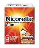 Nicorette 4mg Nicotine Gum to Quit Smoking Surge