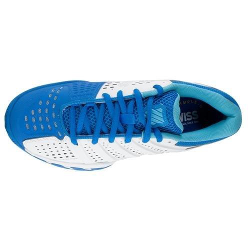 K-SWISS Chaussure de tennis BigShot Light 2.5 pour Femme, Blanc/Bleu, 40