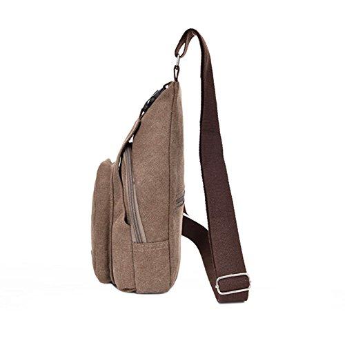 Kry leicht Leinwand Herren Brust Crossbody Tasche Travel Rucksack Sport Messenger/Single Schulter Taschen für Outdoor-Wandern/Klettern/Aktivitäten, 20l * 7D * 35H cm