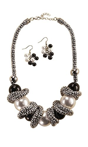 Isabella's Journey Women's Fashion Round and Round Bead Chain Necklace Earrings Set, IJJWRR 20+3.5'' Extender by Isabella's Journey
