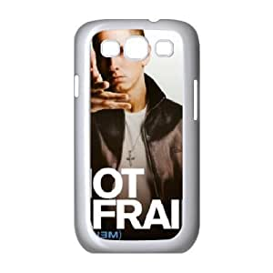 Yearinspace Eminem Samsung Galaxy S3 Cases Eminem Top Rap Artist Cheap for Boys, Samsung Galaxy S3 Case I9300, [White]