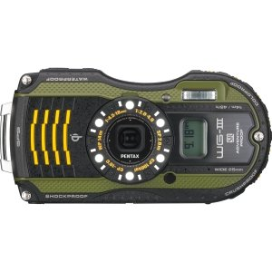 (Pentax WG-3GPS ~ 16MP Waterproof Digital Kit, Green)