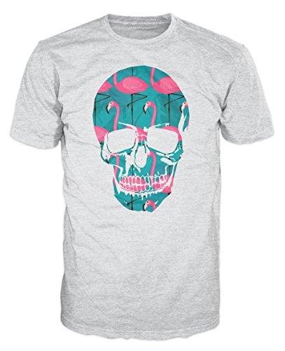 Ptshirt.com-19289-Skull Flamingos Fashion T-shirt-B017Q9920Q-T Shirt Design