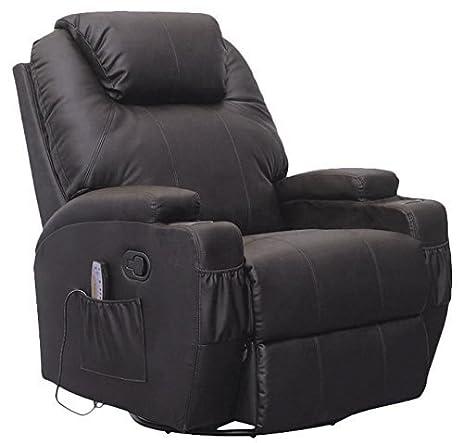 Amazon SUNCOO Massage Recliner Leather Sofa Chair Ergonomic
