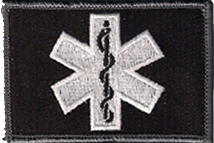 Amazon.com  EMT Star Of Life Tactical Patch - Black White by Gadsden ... 9aee8fc831e