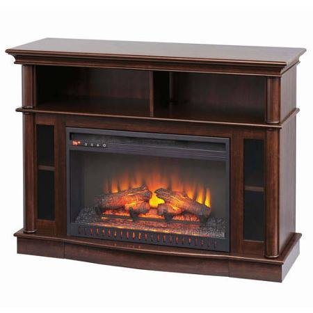 Better homes and gardens media electric fireplace ashwood road brown fireplaces for Better homes and gardens fireplace tv stand