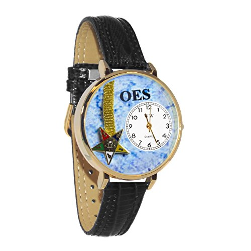 Whimsical Watches Unisex U0710010 Order of the Eastern Star Navy Blue Leather Watch ()