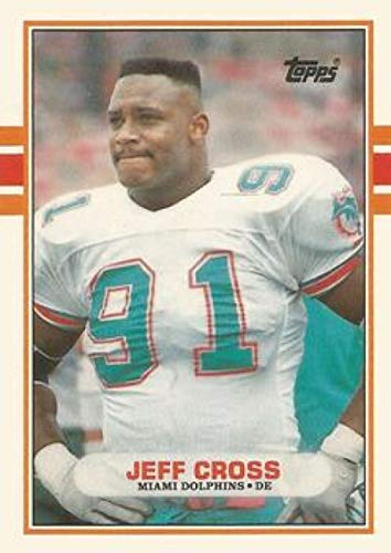 1989 Topps Traded #32T Jeff Cross Dolphins NFL Football Card (RC - Rookie Card) NM-MT