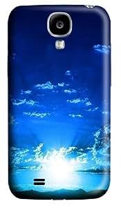 blue sunset Custom Samsung Galaxy I9500/Samsung Galaxy S4 Case Cover Polycarbonate 3D