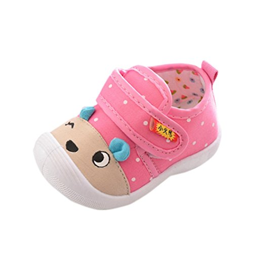 (FEITONG Infant Kids Baby Boys Girls Cartoon Anti-slip Shoes Soft Sole Squeaky Sneakers )