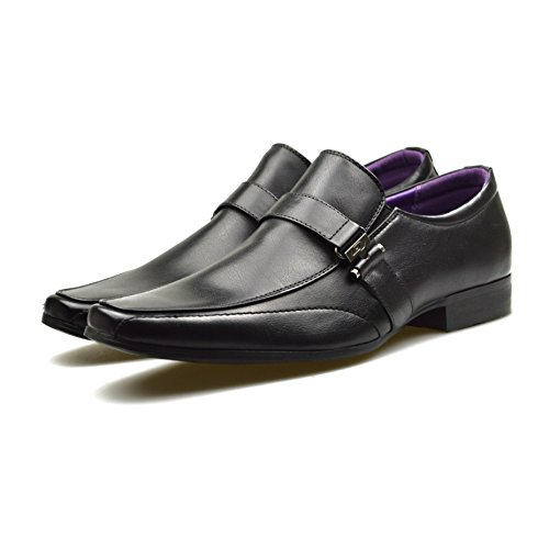 Brown Office 10 On Shoes 9 8 Slip Smart Black 11 7 Work 6 Black Wedding Buckle Mens Cq6yXdcMwd