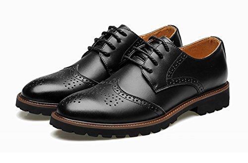N ° 66 Ville Hommes Conduite Lacets Appartements Casual Cuir Oxford Chaussures Noir