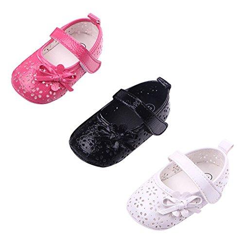 exiu bebé niña diseño de flores niños suave Cuna Prewalker Sole Zapatos 0–