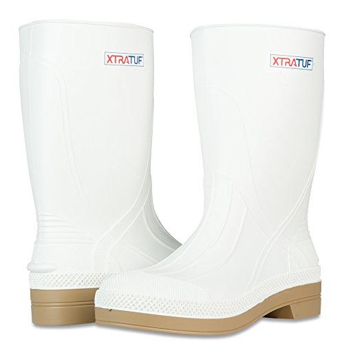 XTRATUF 11'' Men's PVC Shrimp Boots, White (75136) by Xtratuf (Image #6)
