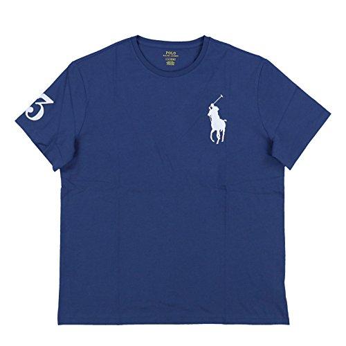 Polo Ralph Lauren Mens Crew Neck Big Pony T-Shirt (2XL, Navy Blue)
