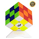Cyclone Boys 3x3 Stickerless Magic Cube 3x3x3 Speed Cube Puzzle with Tripod Base