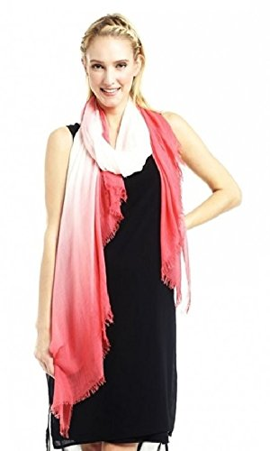 Look Collection Magnificent Shades Chic Ombre Style Scarf Shawl Sarong Grapefruit One - Ombre Shades
