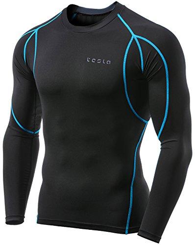 Tesla TM-MUD11-TRN_Medium Men's Long Sleeve T-Shirt Baselayer Cool Dry Compression Top MUD11