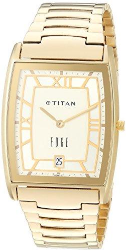 Titan Edge (Titan Men's 'Edge' Quartz Stainless Steel Dress Watch, Color:Gold-Toned (Model: 1684YM01))