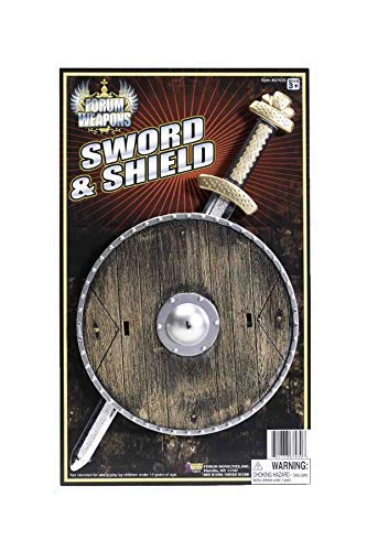 Forum Novelties 8-Inch Shield and 15.5-Inch Sword Costume Accessory]()