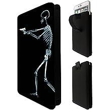 1112 - Death Skeleton Zombie Microsoft Nokia Lumia 535 550 630 640 650 730 830 Fashion Quality Tpu Leather Pull Tab Pouch Case Sleeve Cover