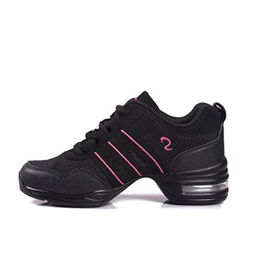 Zapatos De Mujer New Square Dance Zapatos De Baile, Zapatos De Baile De Altura, Modern Dance Net Light Soles Gym Sports Trainers, Air-Cushion Deck Shoes E