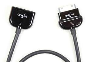 CableJive - dockXtender - Alargador para iPad/iPod/iPhone con conector 60 cm color negro