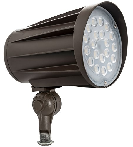 Par38 Bullet - Westgate Lighting Led Outdoor Flood Light- Landscape Garden Bullet Flood Lights - Path Walkway Lawn Spotlights - Knuckle Mount - IP65 Waterproof - High Lumen - 120-277V (50W 3000K Warm White Knuckle)