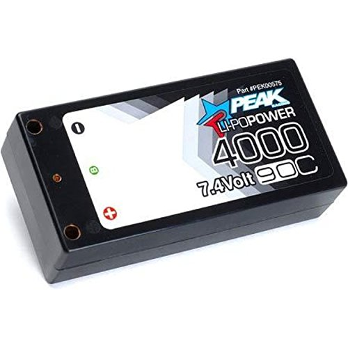 Peak Racing Radio Control 00575 LiPo Pro Shorty 4000mAh 90C 7.4V 2S LiPo Battery
