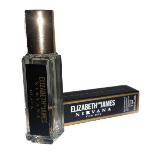 ELIZABETH AND JAMES NIRVANA FOR HER BLACK PERFUME EDP ROLLERBALL MINI 0.24 OZ/7 ML